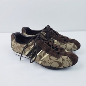 Coach Sneakers Jayme Lace Up Signature Logo #B